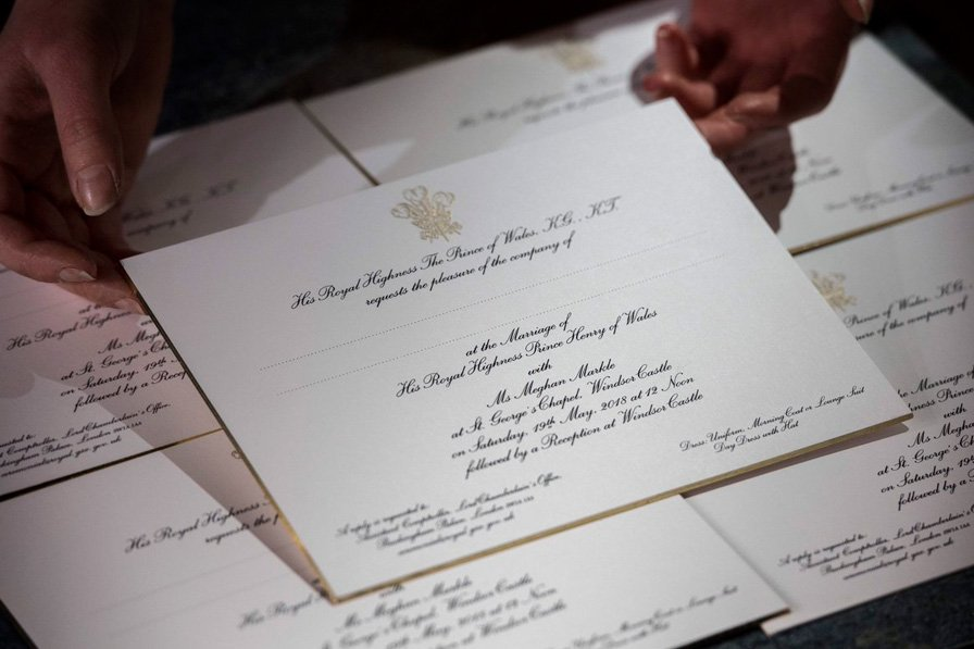 invitaciones harry y meghan